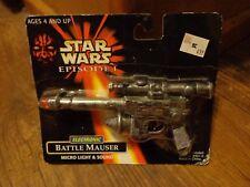 HASBRO--STAR WARS EPISODE 1--ELECTRONIC BATTLE MAUSER (NEW)