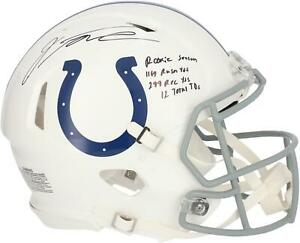Jonathan Taylor Indianapolis Colts Signed Authentic Helmet with Inscs - LE 28