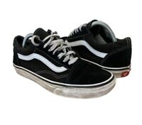 Vans Off The Wall - Skateboard Trainers - Black White Size UK 6.5