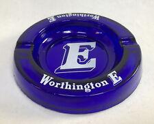 More details for vintage worthington e glass ashtray blue pub mancave film prop