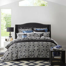 Florence Broadhurst Circles and Squares Chacoal Super King Size Quilt Cover Set