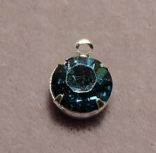 8 mm Crystal round drop - single loop 'INDOCOLITE'   (3923)