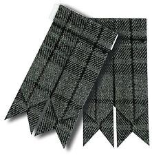 Pour Hommes Kilt Accesoire Gris Écharpe Tartan / Highland Bas Chaussette Flashs