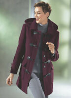 Women's Coat Woollen Cardigan Duffelcoat Jacket Wool Winter Warm New Boxed