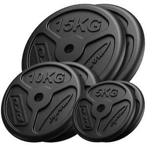Placas de peso Marbo Sport de hierro fundido slim set 60kg / 2x15kg+2x10kg+2x5kg