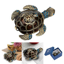 Turtle Tortoise Jewelry Box Trinket Case Crystals Animal Gift Storage Organizer