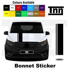 Bonnet Stickers Stripes for Mercedes VITO Vito Racing Vinyl Graphics Decals Merc