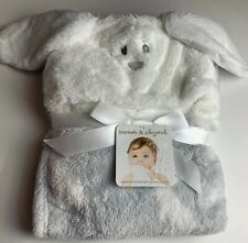 *🐇💕*Blankets and Beyond Gray Bunny Hooded Security Blanket Plushie Soft*🐇💕*