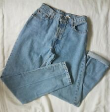 Vintage LEVI'S 550 6L Relaxed Fit Tapered Leg Light Wash High Waist MOM Jeans