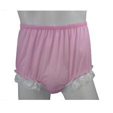 New 17 color Nylon Knickers Granny Briefs Panties Lace Legs Underwear Women Men