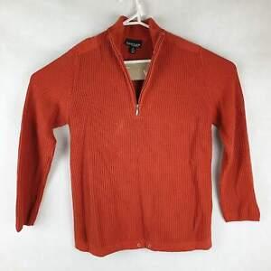 Womens Capture European Orange Jumper Size 40 Pullover Sweater Cotton