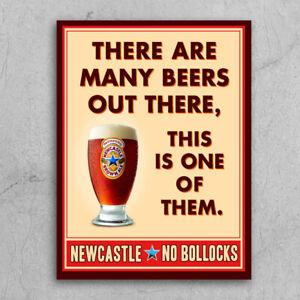 Metal Signs plaques retro style Newcastle brown ale No bollocks home bar mancave