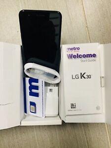 LG K30 32 GB Black Metro By T-Mobile 4 G LTE Locked Phone New Open box