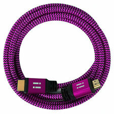 i!® 5m Premium Nylon High Speed HDMI 2.0 Kabel 3D/4K/UHD/FullHD/2160p/1080p pink