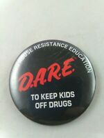 Vintage D.A.R.E Keep Kids Off Drugs pin pinback button school 80's 90's DARE