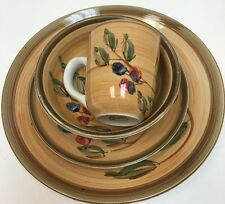 Gibson Designs Roman Olives 4 Piece Place Setting Hand-Painted Service For 1
