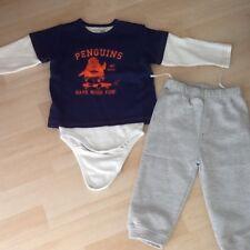 Baby Jungen 2Tlg.Set Shirt m. Body+Hose Gr.80 Hausanzug Freizeitanzug Super !!!
