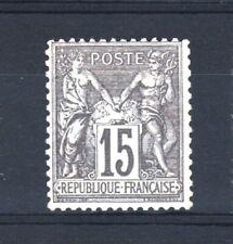 """FRANCE YVERT 77 SCOTT 80 """" PEACE AND COMMERCE SAGE 15c GRAY 1876 """" MH VF V142"""