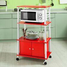 SoBuy® Küchenwagen, Küchenschrank, Rollschrank, Küchenregal,rot,FRG12-R