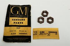 50-54 Chevy Passenger Powerglide Brake Band Adjustment Nuts LOT of 3 3689846 NOS