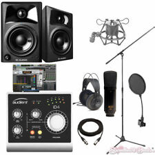 Audient iD4 Studio Recording Bundle with Pro Tools M-Audio Speakers