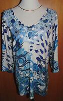 ART & COLOUR Pullover Gr.L Fantasiedruck Meshdetails* QVC