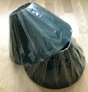 """2 LAMPSHADES 12"""" GREEN COOLIE TABLE & CEILING SHADES ( WITH VERY SLIGHT DEFECTS"""