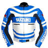 Suzuki Men New Motorbike Leather Jacket Racing Motorcycle Cowhide