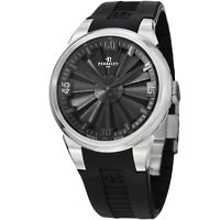Perrelet Men's Turbine Anthracite Dial Rubber Strap Automatic Watch A1064/3