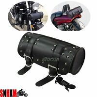 PU Leather Saddlebag Tool Bag Luggage Fit Honda VT Shadow Aero VLX 600 750 1100