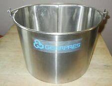 GEERPRES INDUSTRIAL GRADE STAINLESS STEEL MOP UTILITY BUCKET 5 GAL.MODEL 2050