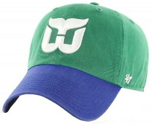 Hartford Whalers NHL '47 Vintage Clean Up Two Tone Hat Cap Adult Mens Adjustable