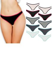 Emprella Womens Underwear Thong Panties - 10 Pack Colors and Patterns May Vary