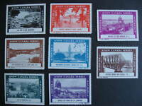 CANADA 8 MNH CNR know Canada series poster stamps