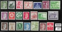 #5909    Mixed MH stamp group / Adolph Hitler / Third Reich Germany Postage
