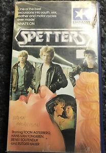 SPETTERS PRE CERT VHS VIDEO 1983 Renee Soutendijk Rutger Hauer Paul Verhoeven