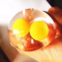 Splat Double Yolk Egg Vent Stress Reliever Relief Fun Toy Rubber Water Ball Gift