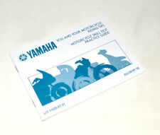 Yamaha You and Your Motocycle Riding Tips Skill Test Practice Guide Neu