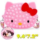 Pink Kitty Cat Shoulder Bag Push Popit Bubble Fidget Sensory Toy for Girls Gift