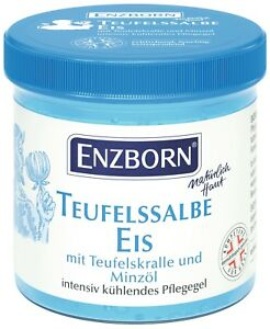 Enzborn® Teufelssalbe Eis 200ml, kühlendes Pflegegel, Massage, Teufelskralle