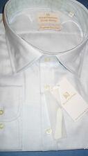 SOLID CLOTHING TWO FOLD SKY END ON END 'JERMYN STREET' SHIRT SIZE 20 SINGLE CUFF