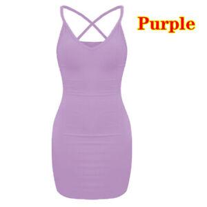 Women Sexy Spaghetti Strap Bodycon Mini Dress Club Party Wear Short Dress Summer