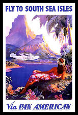 Caribbean Clipper FRIDGE MAGNET 6x8 Pan Am Airline Magnetic Travel Poster