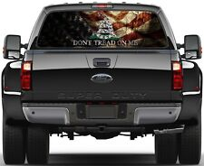 Gadsden USA Old Flag Don't Tread On Me  Rear Window Graphic Decal  Truck Van