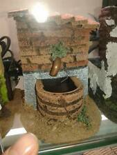 Fontana acqua vera presepe x pastori 7 10 cm  crib shepherds water small gia 45
