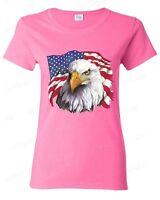 American Flag National Symbol Eagle Women's T-Shirt 4th of July Shirts