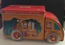BONAPETTI CIRCUS Illustrated Lorry Tin Money Box - Tiger Cage Removable Lid