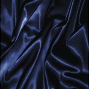 600 Thread Count Satin Silk Navy Blue Solid Choose US Sizes & Soft Bedding Items