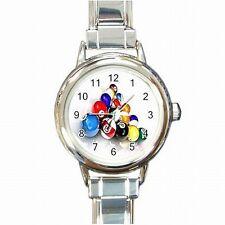 Pool Balls Triangle Rack Billiards Player Womens Bracelet Watch