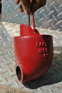 Vintage Baker Monitor Water Conductor Windmill Water Well Pump Cast Iron Cup